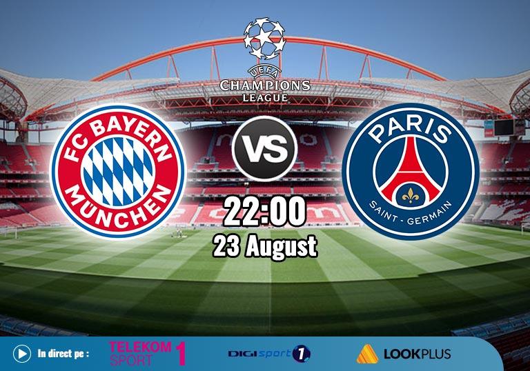 Finala Champions League 2020, Bayern vs PSG