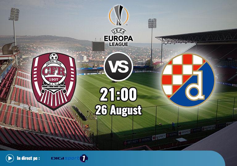 CFR Cluj vs Dinamo Zagreb, UEFA Champions League, 2020