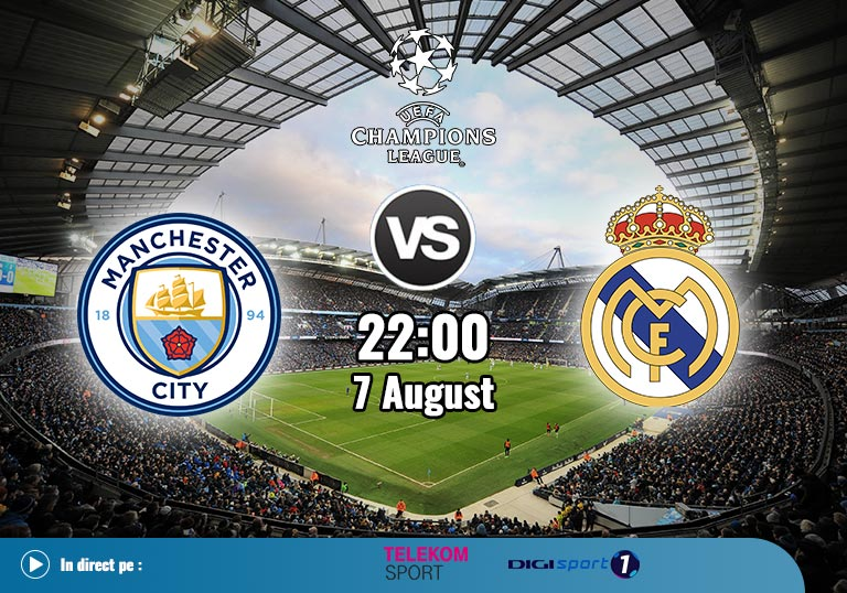 Man City vs Real Madrid Champions League 2020