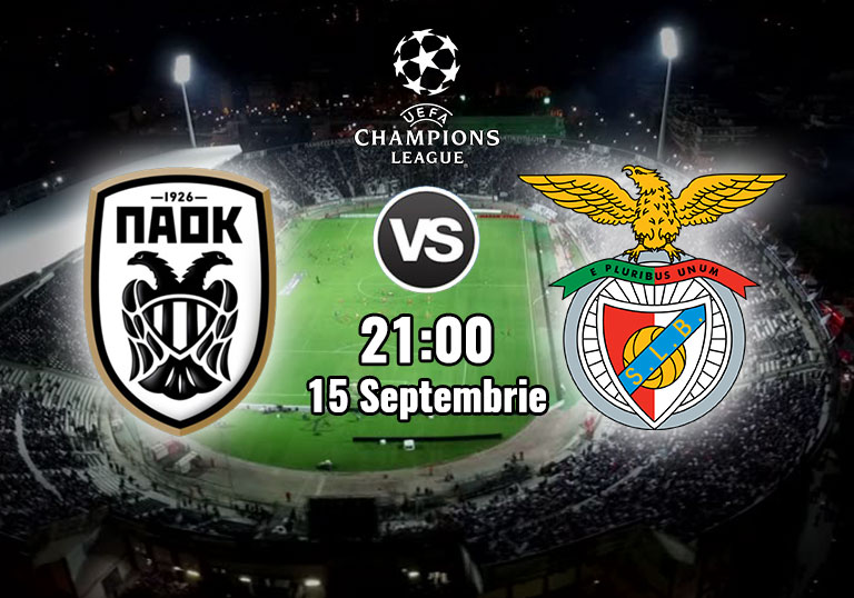 PAOK vs Benfica, Champions League, 2020