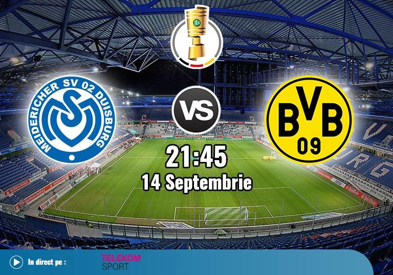 Cupa Germaniei, MSV Duisburg vs Borussia Dortmund, 2020