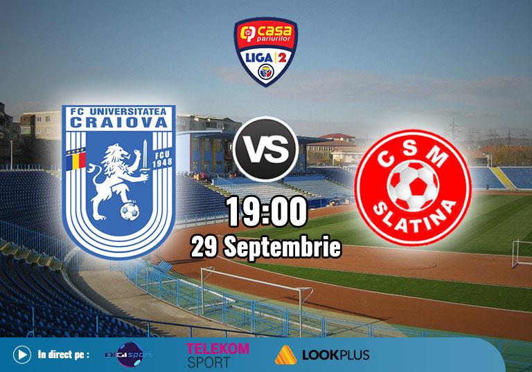 FCU Craiova CSM Slatina, Liga 2, 2020