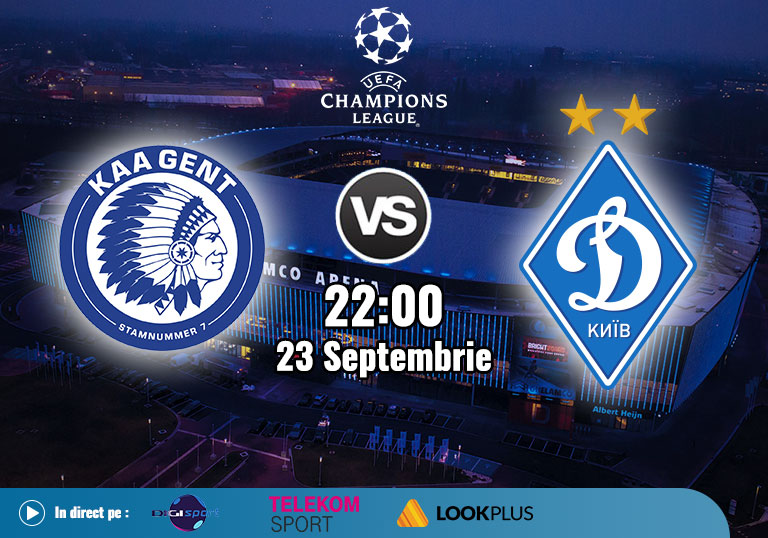 Playoff UCL, Gent vs Dinamo Kiev, 2020