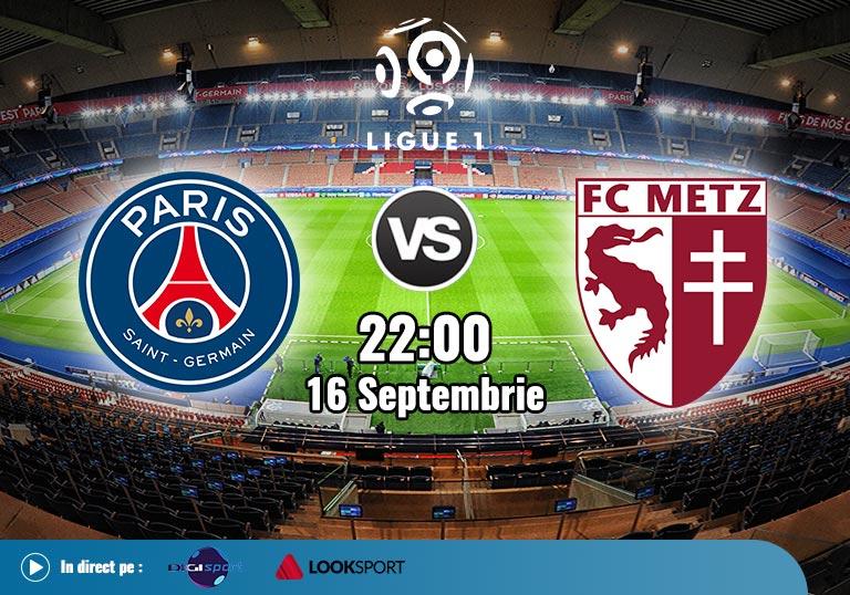 PSG vs Metz, Ligue 1, 2020