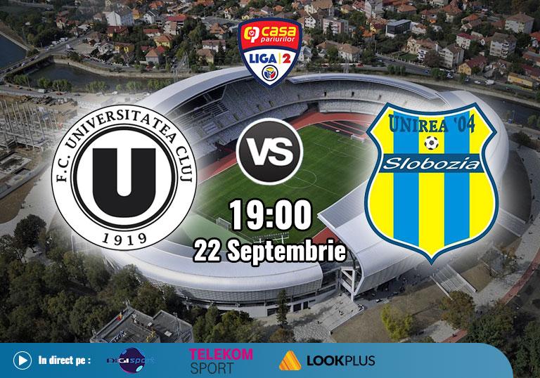 Meci U Cluj, Liga 2, 2020