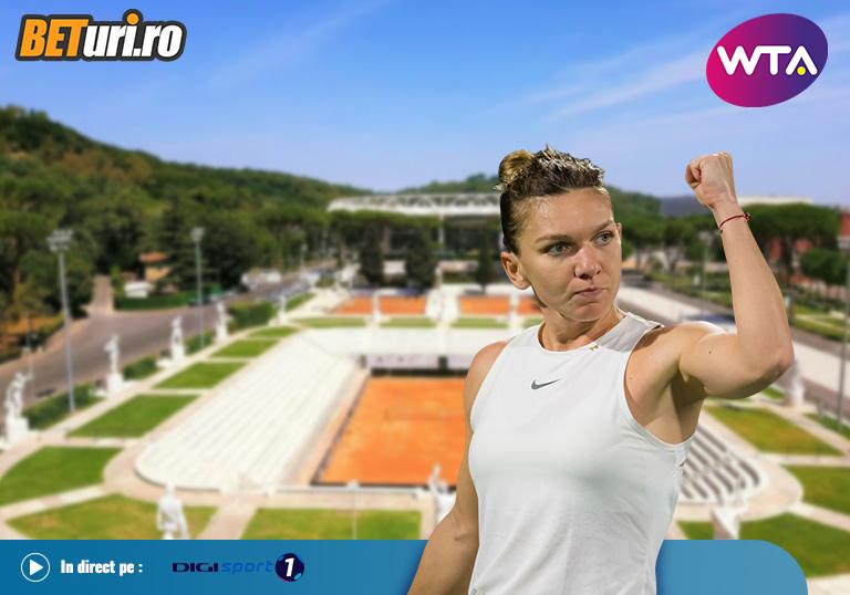 Halep Pliskova, WTA Roma, 2020