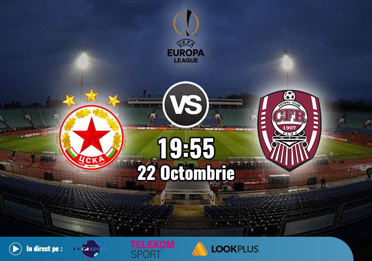 Ponturi Europa League , TSKA Sofia CFR Cluj