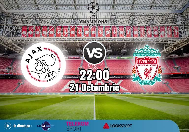Ajax Liverpool , Liga Campionilor , 2020