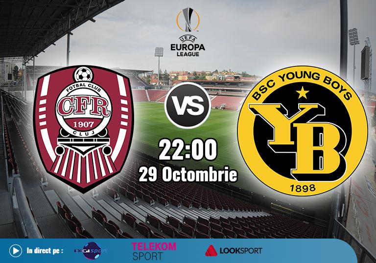 CFR Cluj Young Boys , Europa League , 2020