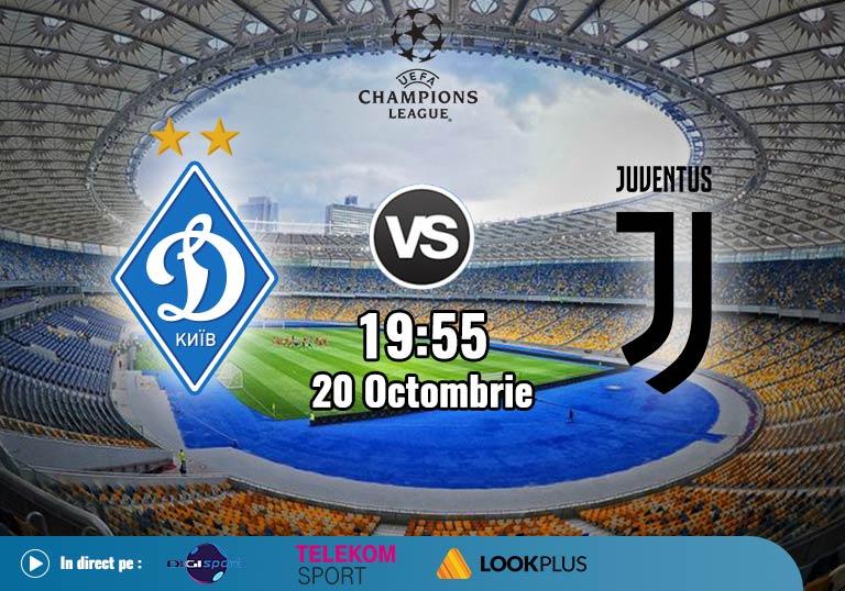 Dinamo Kiev Juventus , Liga Campionilor , 2020