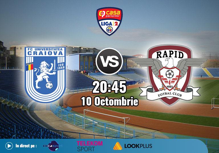 FC U Craiova Rapid , Liga 2 , 2020