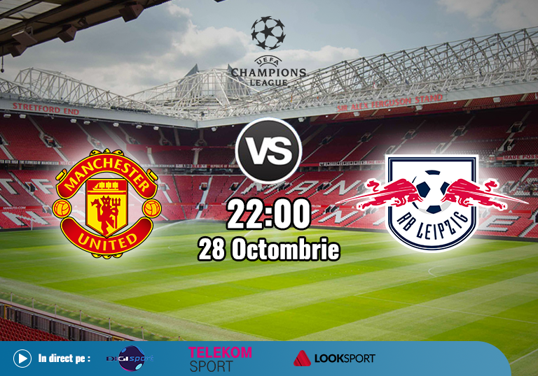 Manchester United Leipzig , Champions League , 2020
