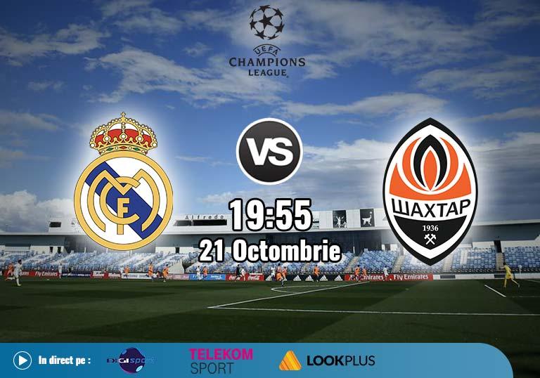 Real Madrid Sahtior , Liga Campionilor , 2020