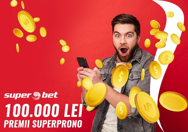 Superprono Superbet , Premii 100.000 lei