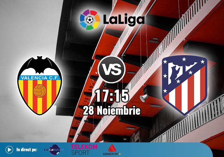 Valencia Atletico Madrid , La Liga , 2020