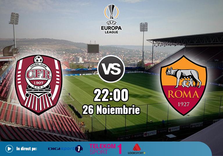 CFR Cluj AS Roma , Europa League , 2020
