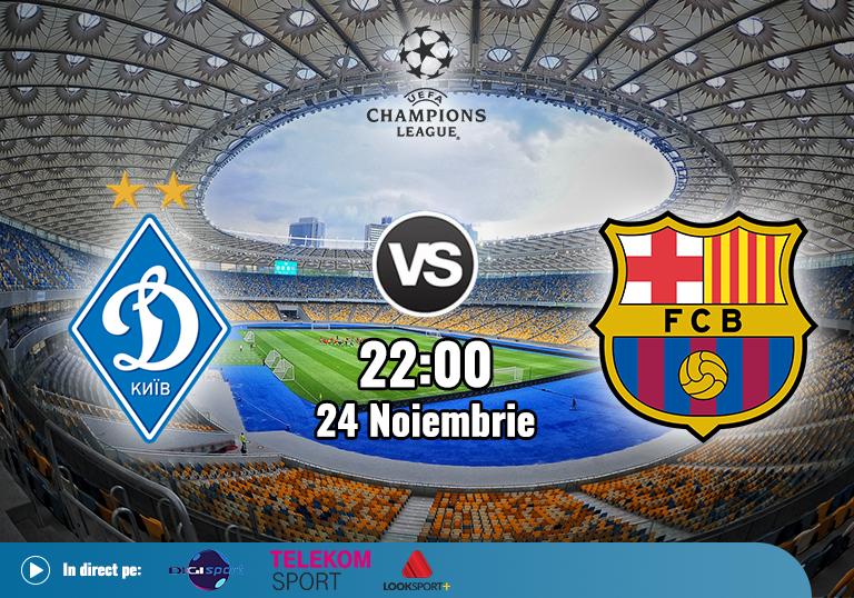 Dinamo Kiev Barcelona , Liga Campionilor , 2020
