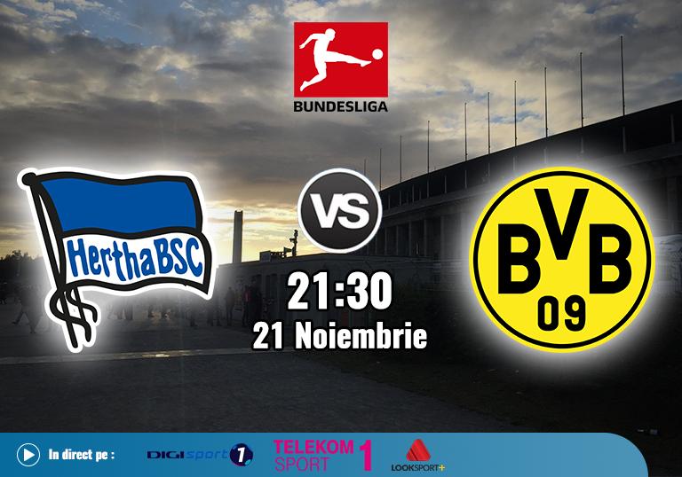 Hertha Berlin Borussia Dortmund , Bundesliga , 2020