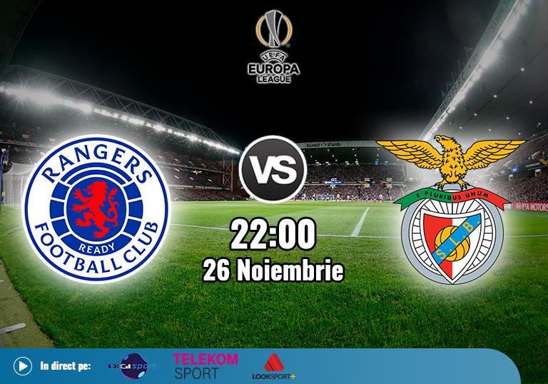 Rangers Benfica , Europa League , 2020