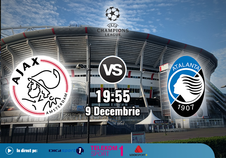 Ajax Atalanta , Liga Campionilor , 2020