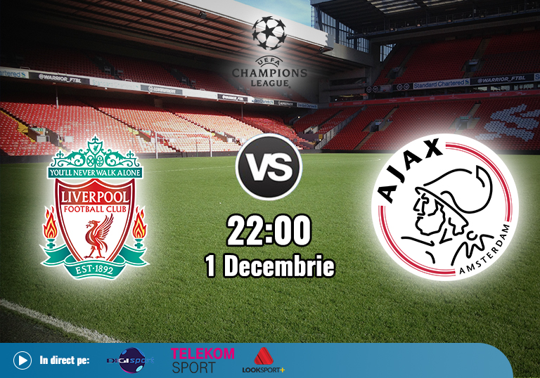 Liverpool Ajax , Liga Campionilor , 2020