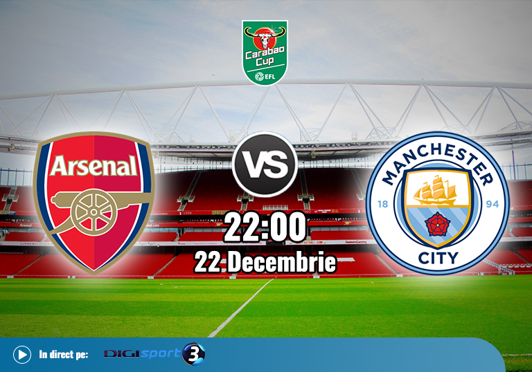 Arsenal Man City , EFL Cup, 2020