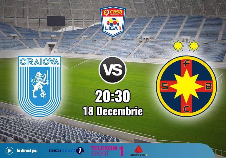 U Craiova FCSB , Liga 1 , 2020