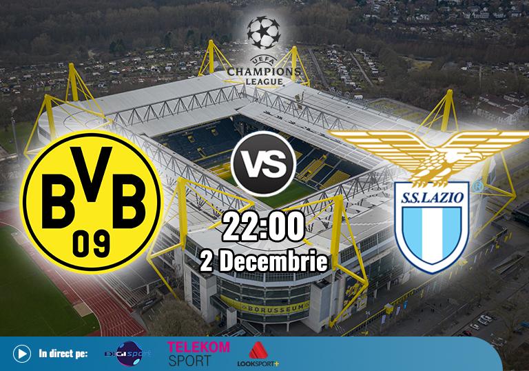 Borussia Dortmund Lazio , Liga Campionilor , 2020