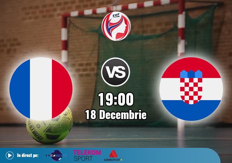 Franta Croatia Handbal , EHF Euro 2020