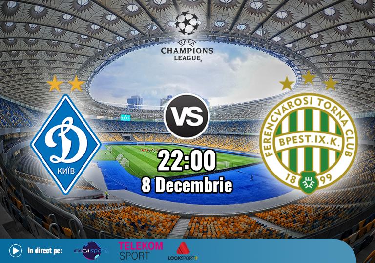 Dynamo Kiev Ferencvaros , Liga Campionilor , 2020