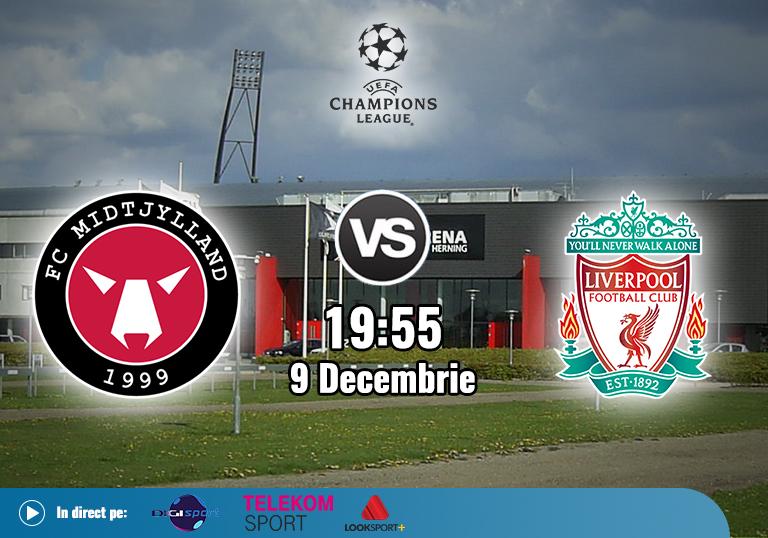 Midtjylland Liverpool , , Liga Campionilor , 2020