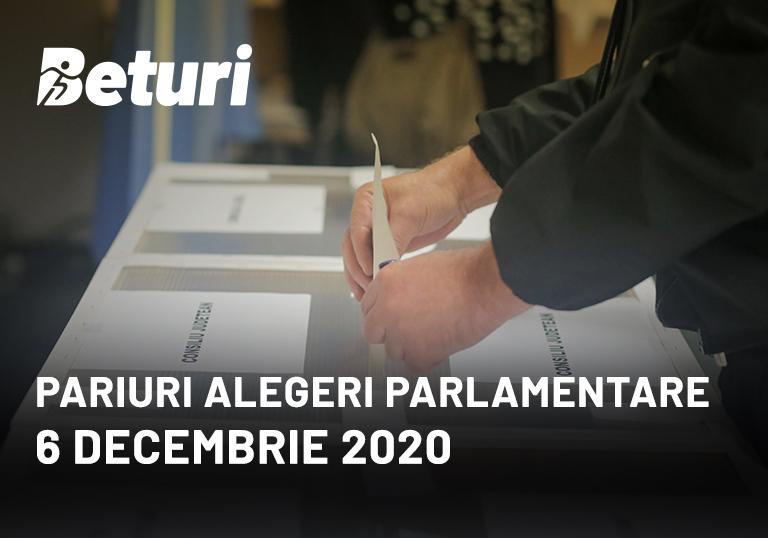 Pariuri alegeri parlamentare 2020