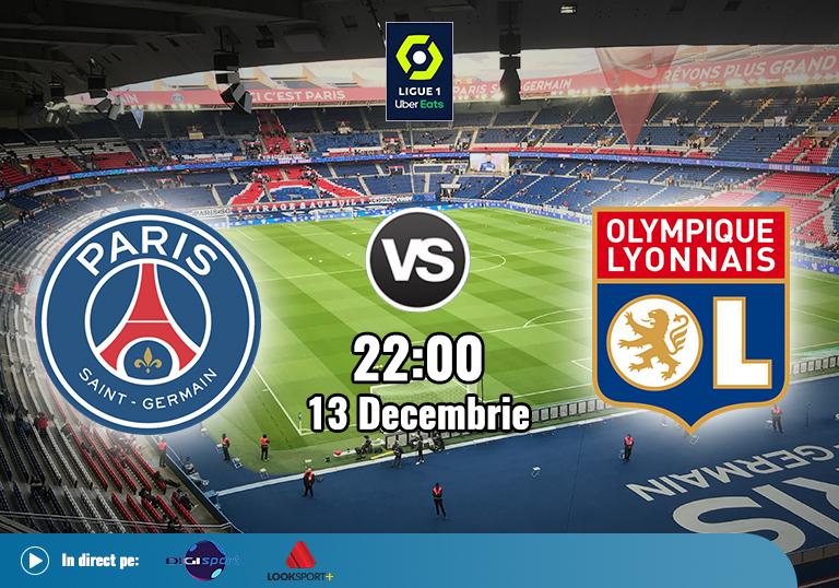 PSG Lyon , Ligue 1 , 13.12.2020