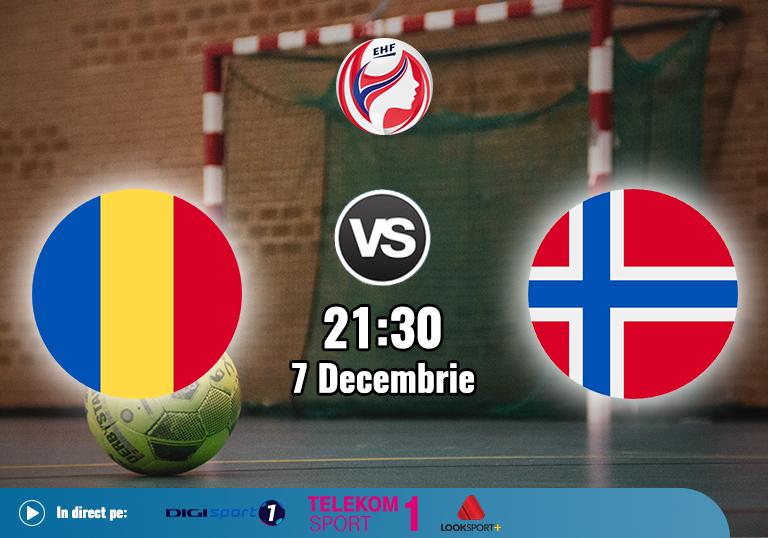 Romania Norvegia Handbal Euro 2020