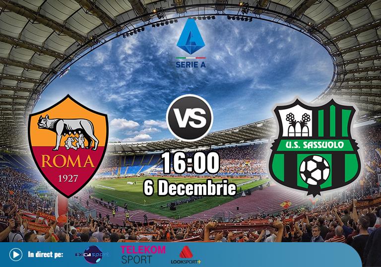 AS Roma Sassuolo , Serie A, 2020
