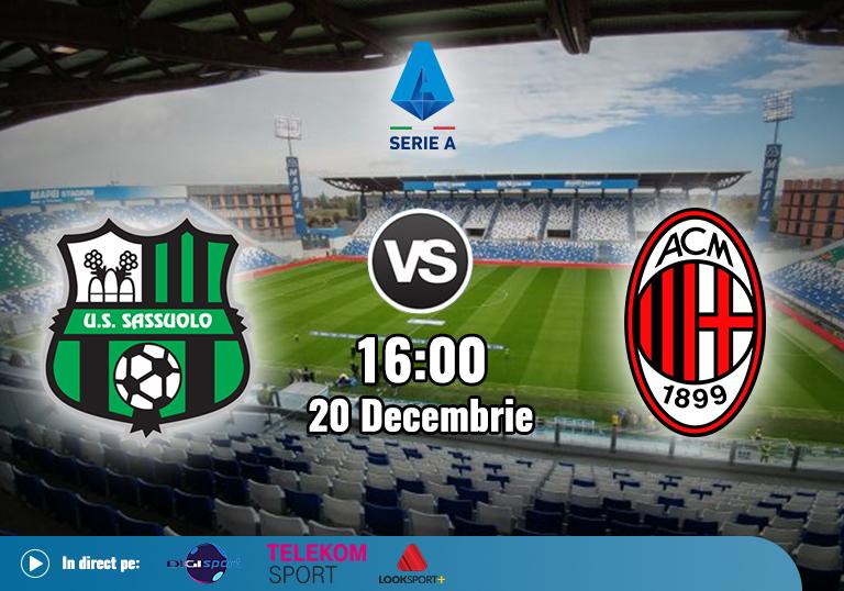 Sassuolo Milan , Serie A , 2020