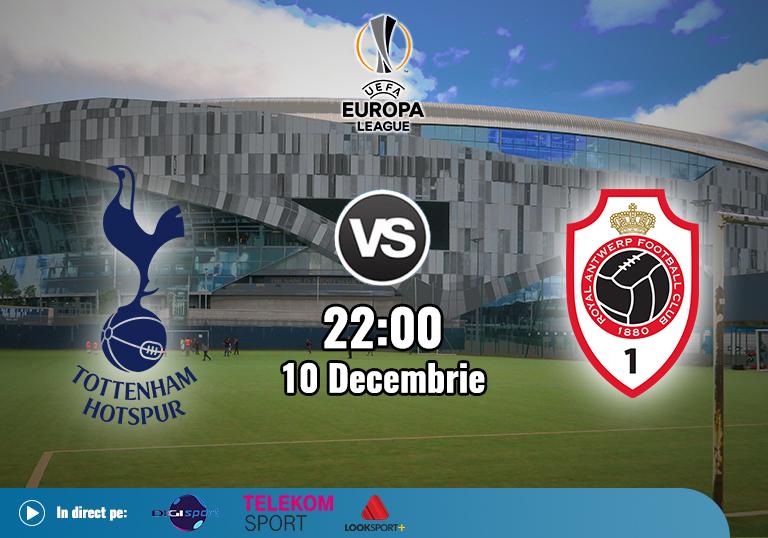Tottenham Antwerp , Europa League, 2020