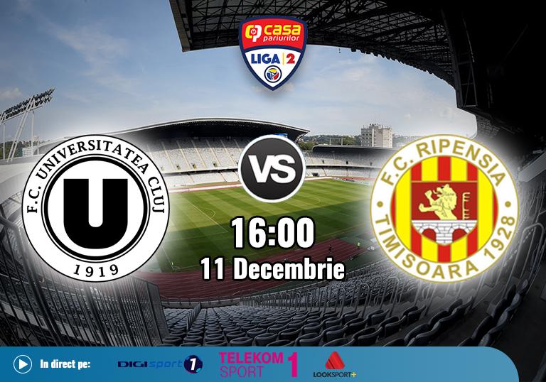 U Cluj Ripensia , Liga 2 , 2020
